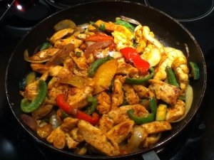 Chicken Fajitas - the non-sizzling kind